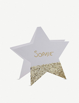 GINGER RAY Star-shaped place cards pack of 10