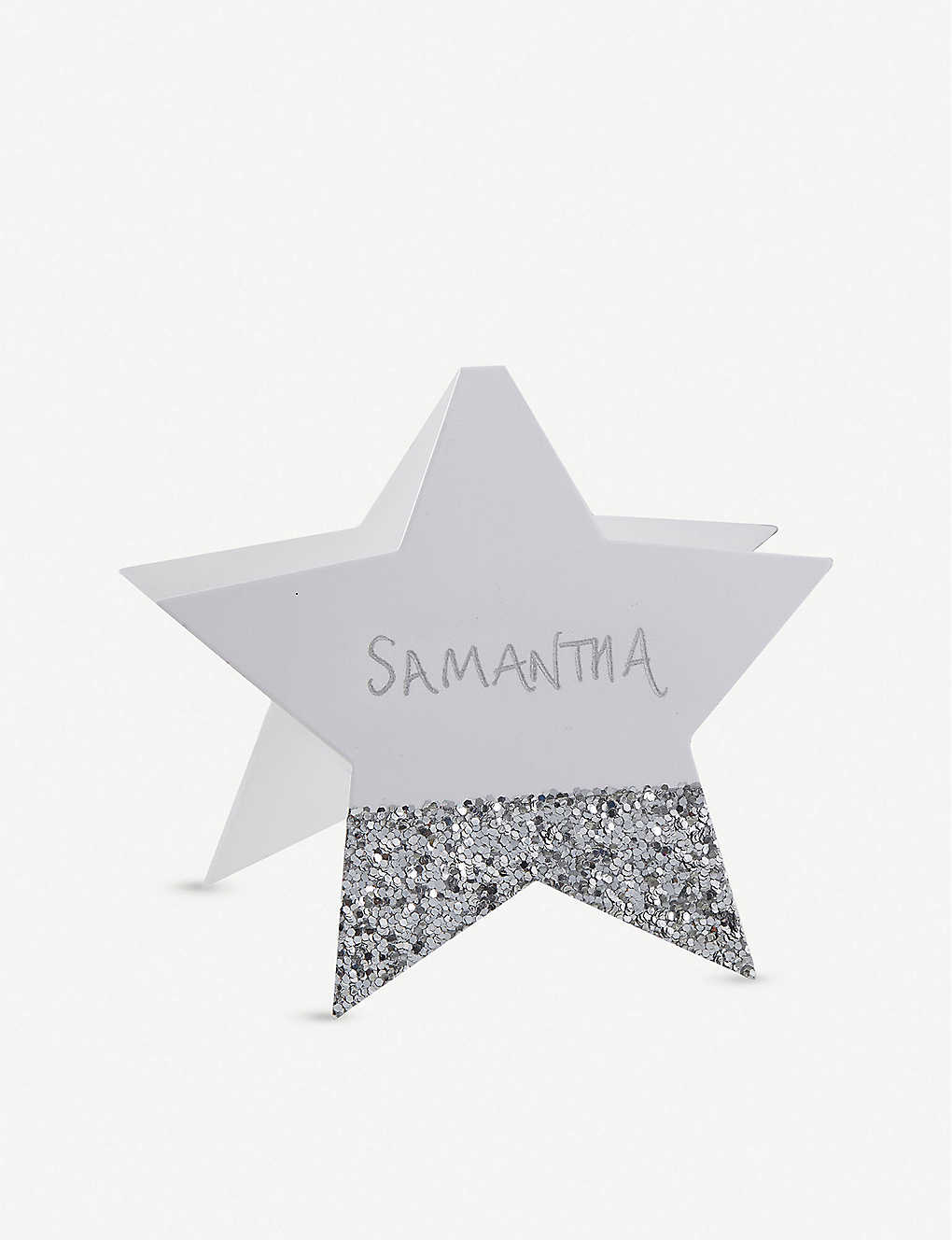 GINGER RAY: Glitter star place cards pack of six