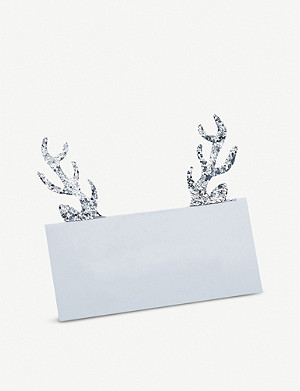 GINGER RAY Glitter antler place cards 4x8cm