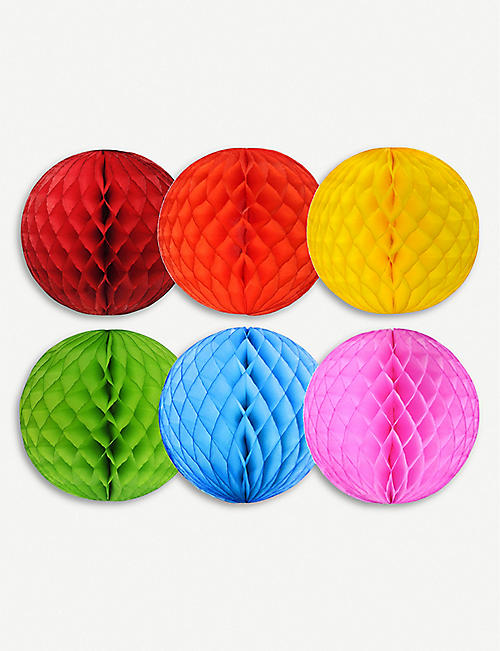 CHRISTMAS Honeycomb decorations pack of 6