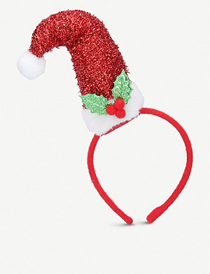 GISELA GRAHAM Santa glittered headband