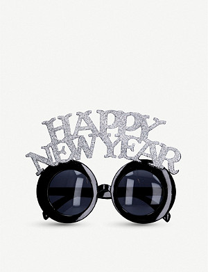 GISELA GRAHAM Glittered Happy New Year fancy dress glasses