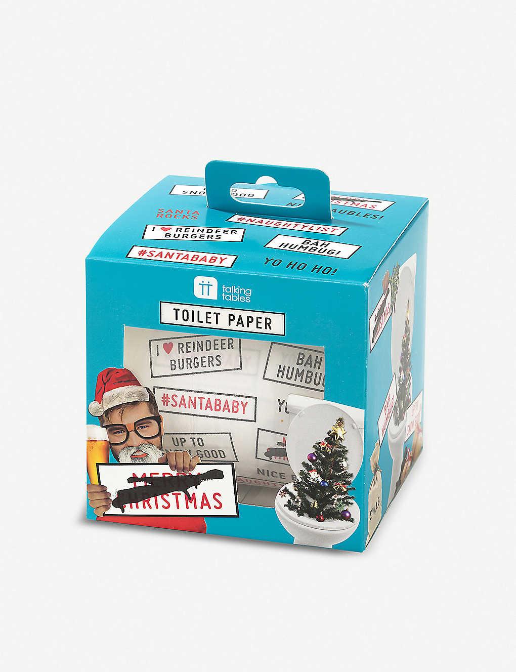 TALKING TABLES - Christmas slogan toilet paper roll