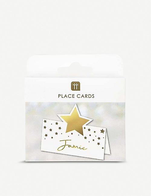 TALKING TABLES Star place card holders pack of 16