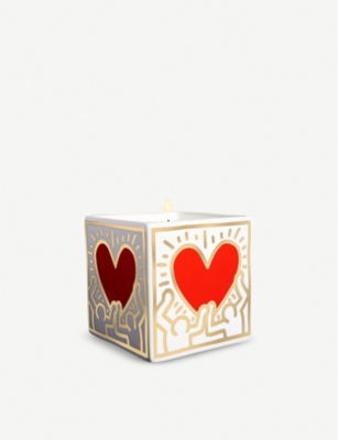 LIGNE BLANCHE Red Heart porcelain scented candle 260g