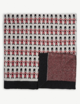 SALLY NENCINI London guards lambswool blanket 80cm x 60cm