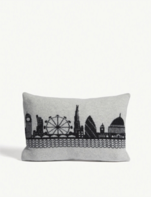 SALLY NENCINI London Skyline lambswool cushion 30cm x 45cm