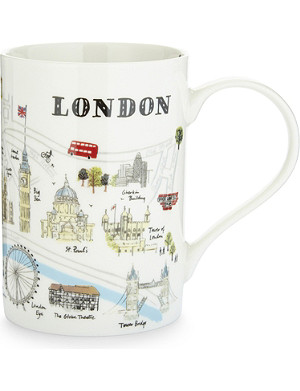 ALICE TAIT 'Map of London' patterned mug