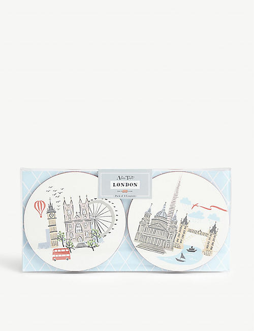 ALICE TAIT London Landmark coasters set of four