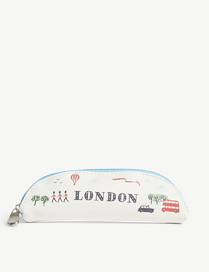 ALICE TAIT London-print slim pencil case