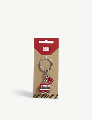 RED BUS 3D London red bus key ring