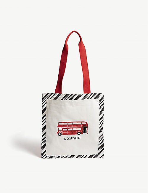 RED BUS London bus cotton canvas shopper