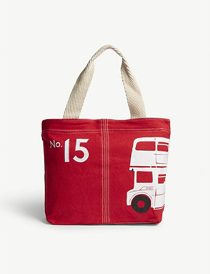 RED BUS London bus Portland tote