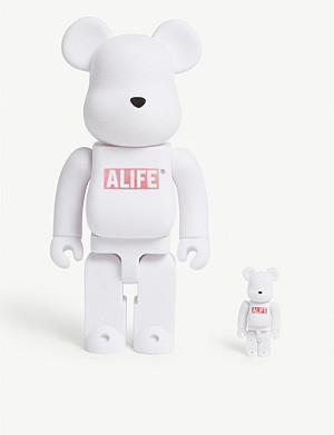 BE@RBRICK Alife velvet-covered 100% & 400% figures set of two
