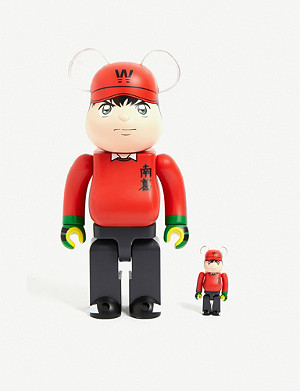 BE@RBRICK Captain Tsubasa Wakabayashi 100% & 400% figures set of two