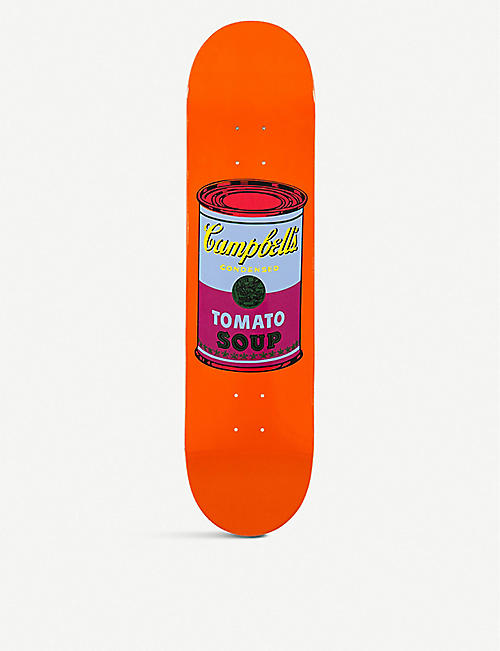 THE SKATEROOM: Andy Warhol Campbell's Soup Can-print wooden skateboard deck