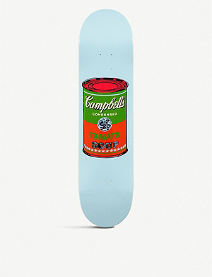 THE SKATEROOM Andy Warhol red Campbell's Soup skateboard