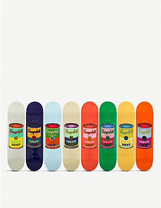 THE SKATEROOM: Campbell-print skate decks set of eight