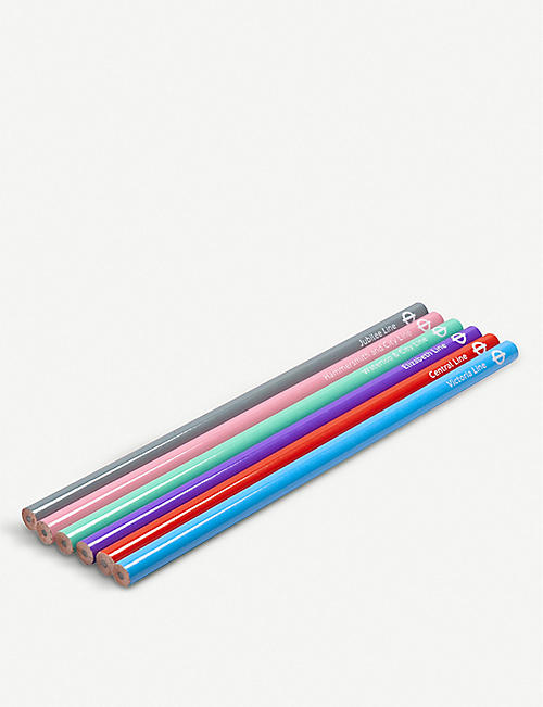 LU COLLECTIONS London Underground Tube Line pencils set of six