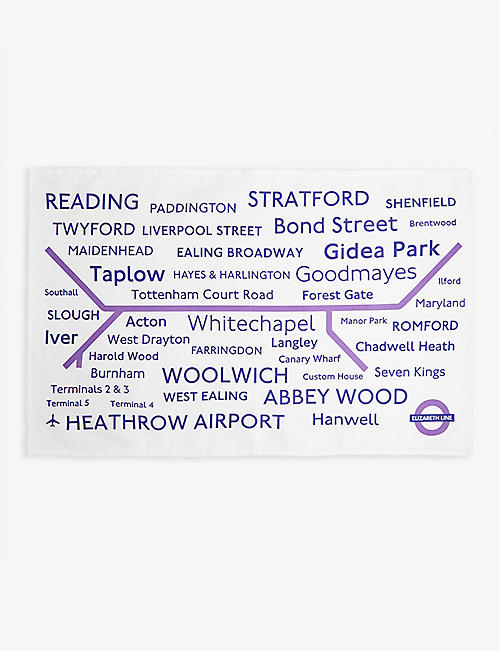 LU COLLECTIONS Elizabeth line cotton tea towel