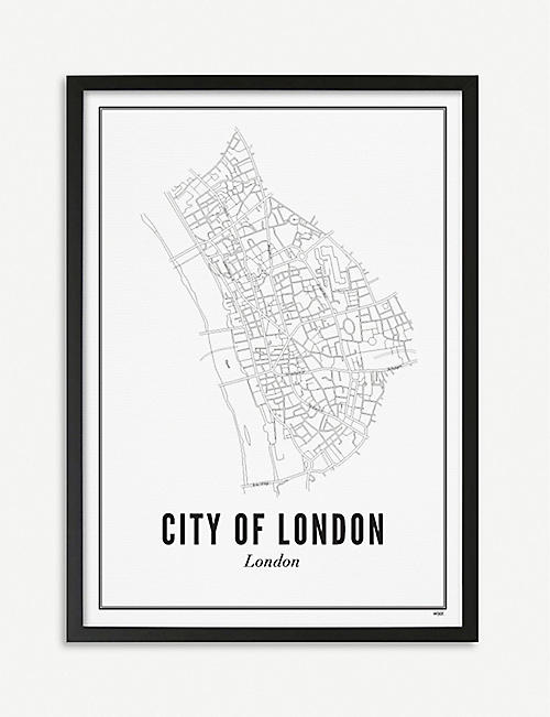 WIJCK London City of London print A4