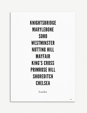 WIJCK London City typographic print A3