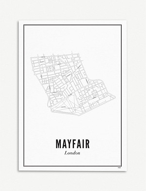 WIJCK London Mayfair print A4