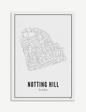 WIJCK London Notting Hill print A4