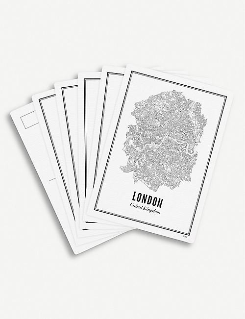 WIJCK London print postcards set of six