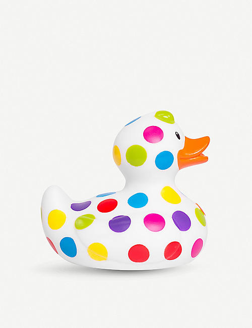 HALF MOON BAY Pop Polka Dot rubber duck 12cm 11cm