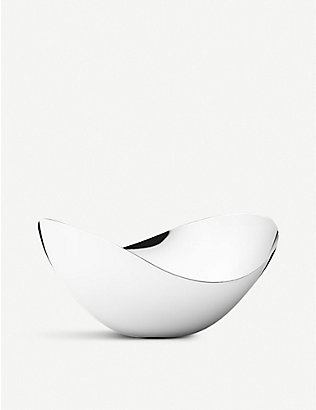 GEORG JENSEN: Bloom tall stainless steel bowl 14cm