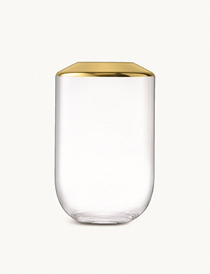 LSA Space glass and metal vase 25cm