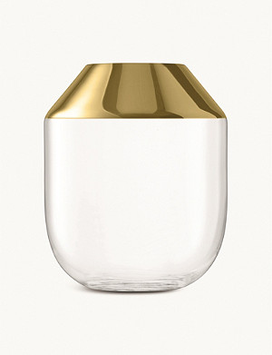 LSA Space glass and metal vase 39cm