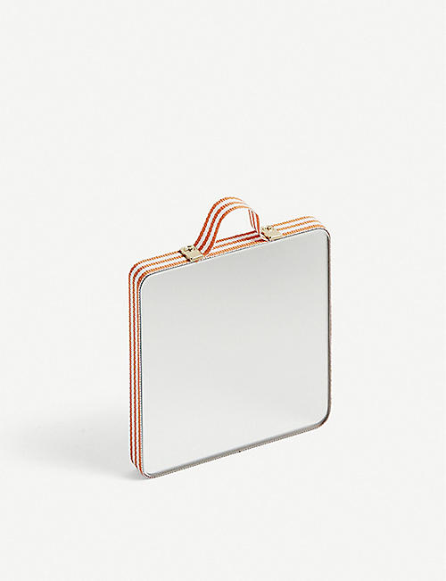 451a30494361 HAY Ruban extra small striped rectangular mirror