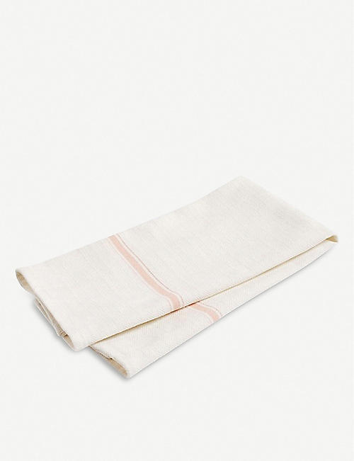 HAY: Striped-trim cotton tea towel set of two