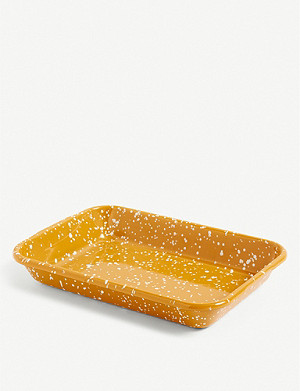 HAY Speckle enamelled tray 28x20cm