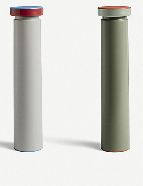 HAY: Large stainless steel salt & pepper mill