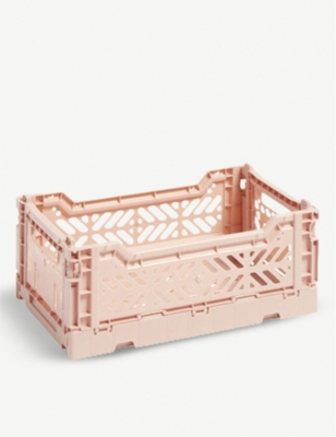 HAY Stackable small plastic crate 10.5x17x25.5cm