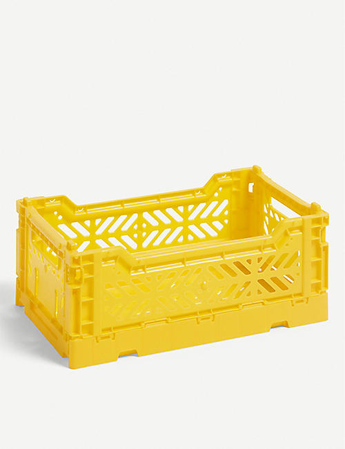 HAY Stackable plastic crate 26.5x17x10.5cm