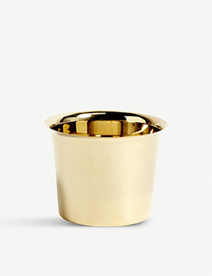 HAY Botanical Family medium brass pot 11cm