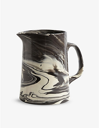 HAY: Marbled porcelain and stoneware jug 2.5L