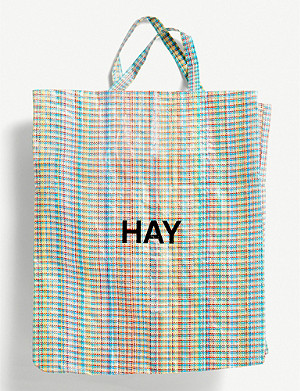 HAY Check XL tote mesh bag