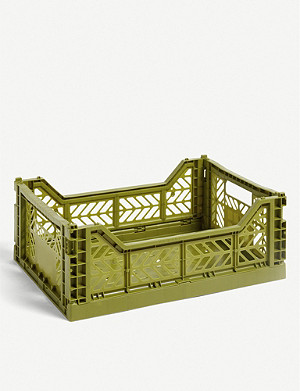 HAY Stackable plastic crate 14.5x50x30cm