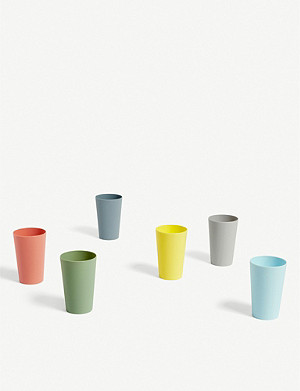 HAY Paquet plastic cups set of six