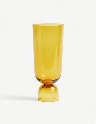 HAY: Bottoms Up glass vase 29.5cm