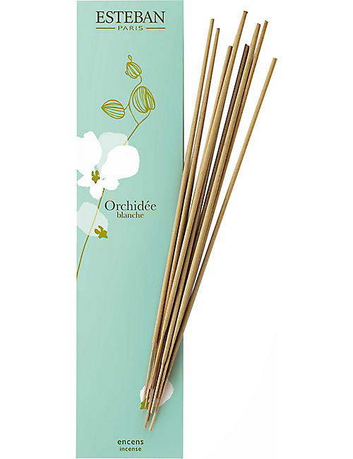 ESTEBAN: Orchidee blanche bamboo sticks