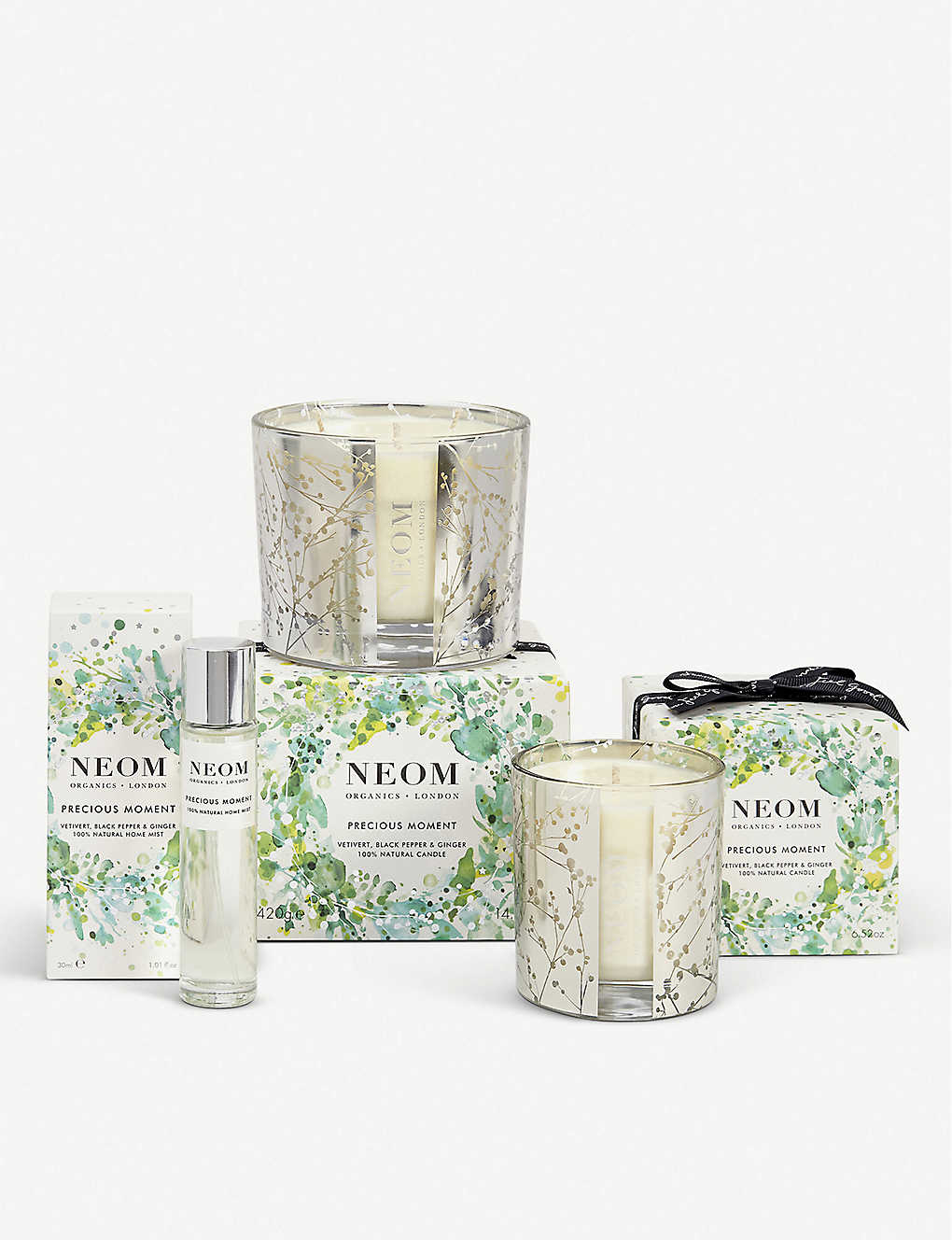 NEOM LUXURY ORGANICS: Precious Moment three-wick scented candle 420g