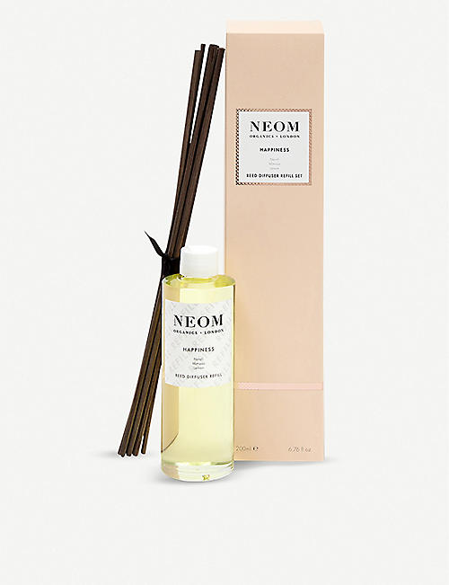 NEOM LUXURY ORGANICS Happiness ultimate reed diffuser refill 200ml