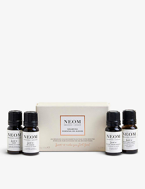 NEOM: Wellbeing essential oils collection box of four
