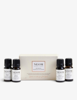 NEOM LUXURY ORGANICS Wellbeing essential oils collection box of four